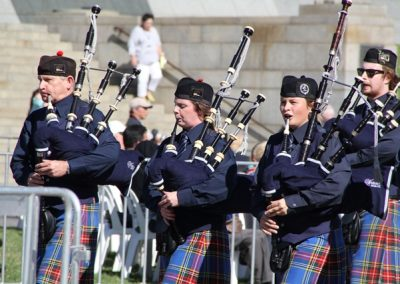 Watsonia RSL Pipes and Drums ANZAC DAY 2016 City March